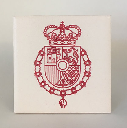 Coat of arms of the King of Spain Tile