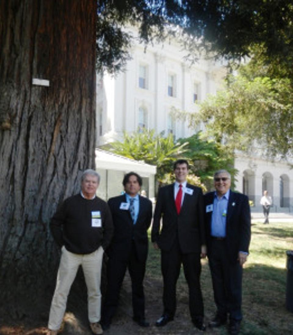 Dave Beard, Randy Widera, Nathan Weaver and Jarrell Jackman at Park Advocacy Day May 6, 2014.