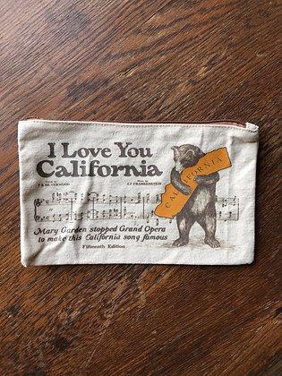 California Bear zipper bag