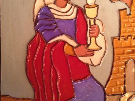 New Saint Barbara Tile Debuts at SBTHP Holiday Sale Saturday December 14