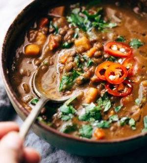 The Best Slow Cooker lentil Stew!