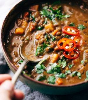 The Best Slow Cooker lentil Stew!