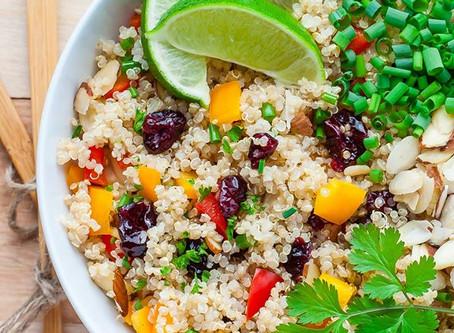 Tangy Cranberry, Corriander, Quinoa Salad
