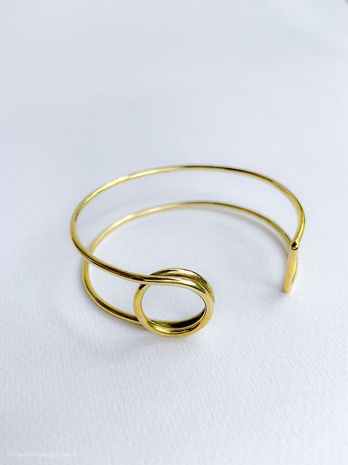O-Wire Brass Bangle