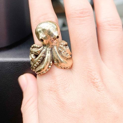Octopus Brass -Ring