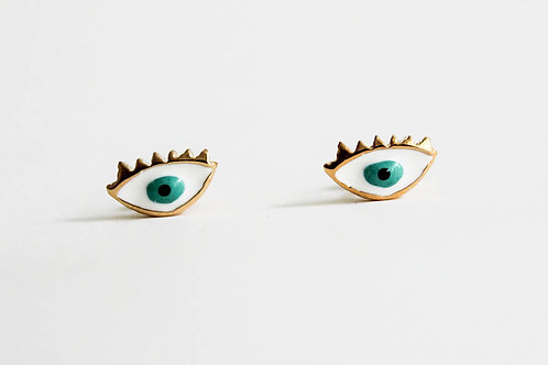 Green Eye - Earring