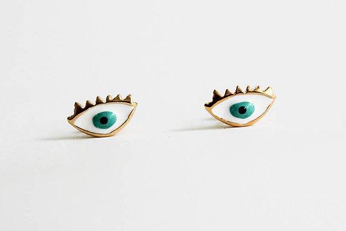 Green Eye - Earring
