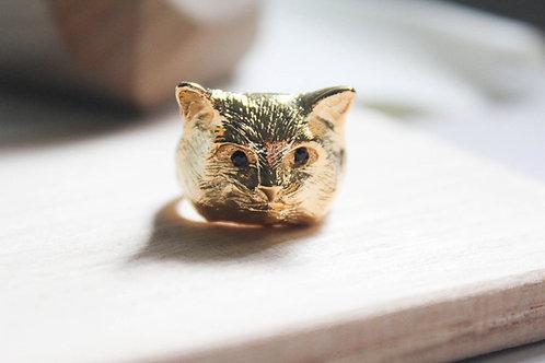 Black Kitty Ring