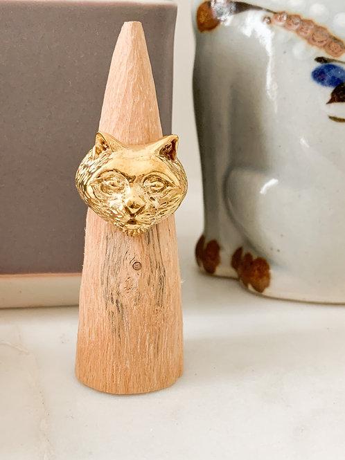 Cat Ring ss2 - Brass
