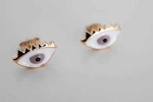Brown Eyes - Earring