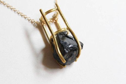 Muzzle Stone - Obsidian Pendant
