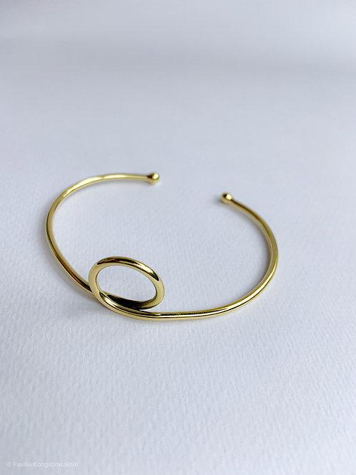 e-Wire Brass Bangle