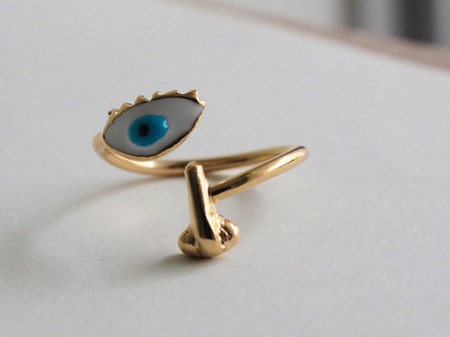 Eye-Nose-Blue - Ring