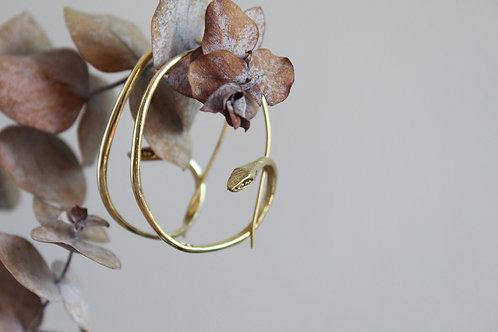 Snake hoop earrings