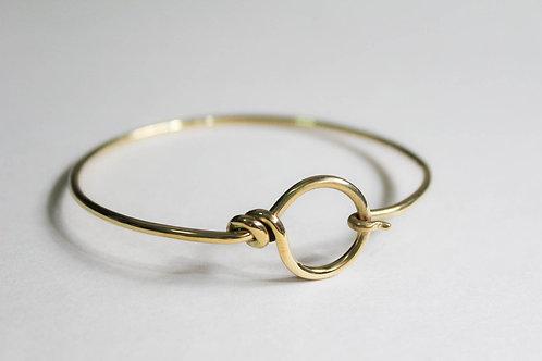 Loop and hook clasp bangle