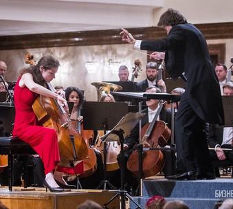 With Anastasia Kobekina and the Tatarstan National Symphony Orchestra, Lutoslawski Cello Concerto, Kazan, 2018