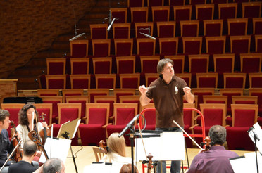 In rehearsal with the Mariinsky Orchestra, October 2013