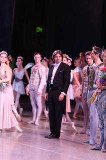 With Ulyana Lopatkina and Timur Askerov, A Midsummer Night's Dream, Mariinsky Theatre May 2014