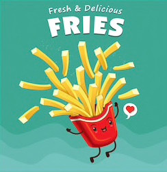 vintage-fries-poster-design-vector-260nw