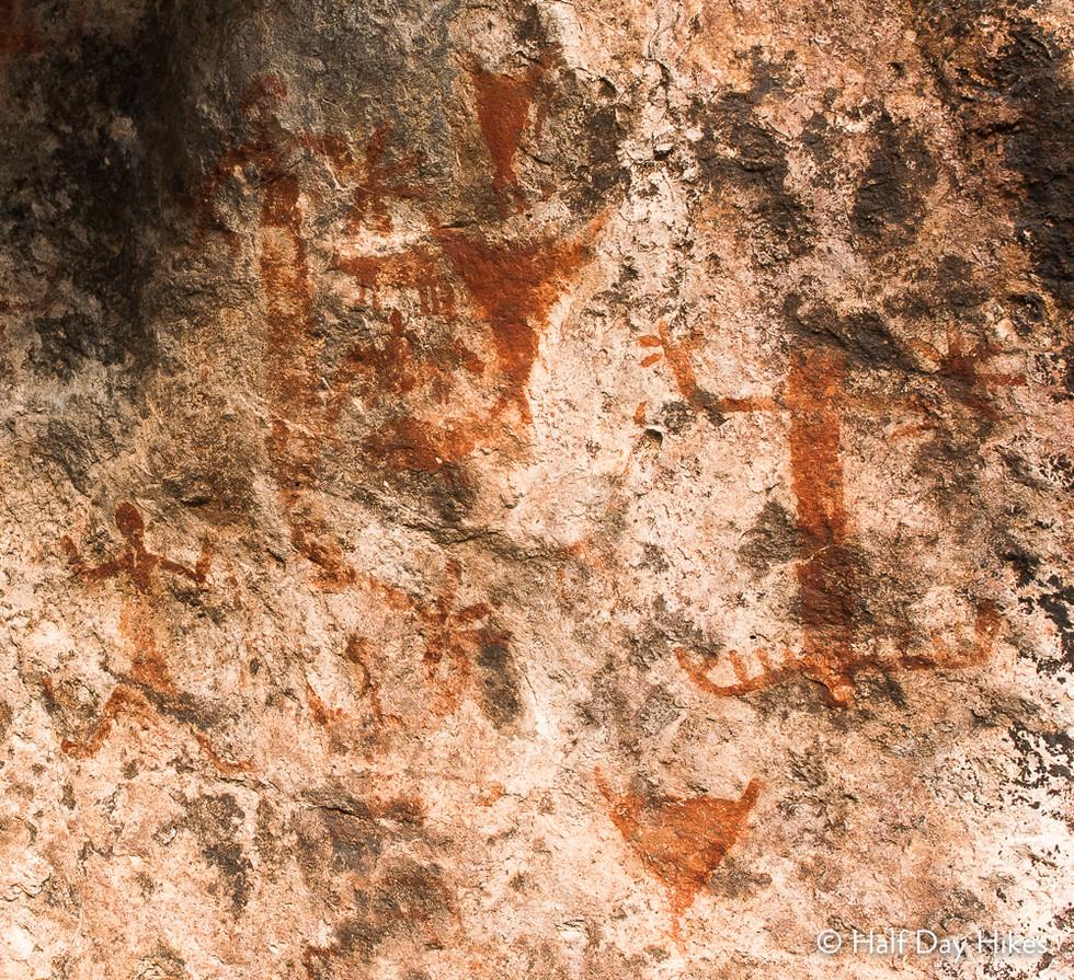 Rock Art on Cinco Tinajas Hike