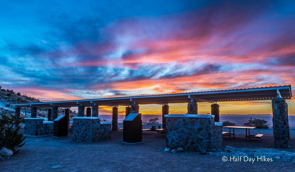 Sunset at the Tom Mays Pavilion