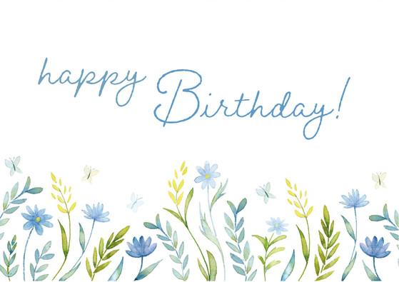 Birthday Blue