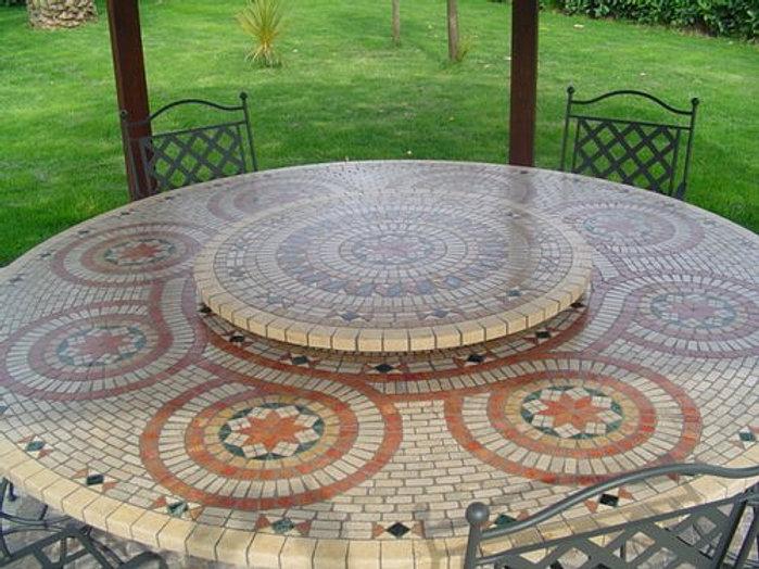 Tavoli Da Giardino In Ferro Battuto E Mosaico.Tavoli Da Giardino Ferro E Mosaico Set Da Giardino Alison In Ferro