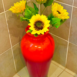 Sunflowers in the room