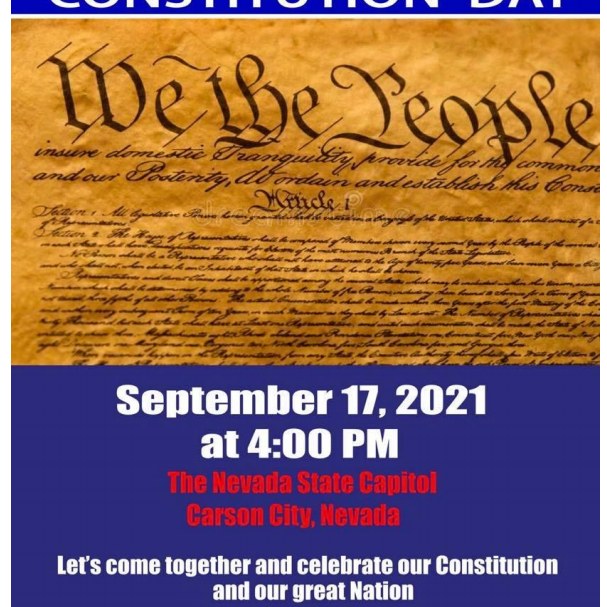 Celebrate Constitution Day, 9/17/21, State Capitol, 4:00 PM