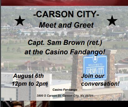 Meet Captain Sam Brown (ret.), Republican Candidate US Senate