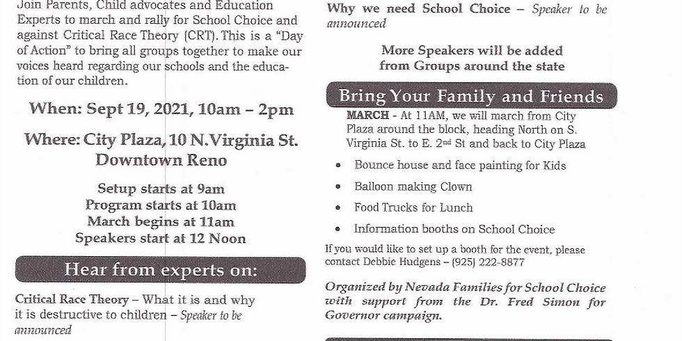 March and Rally for School Choice