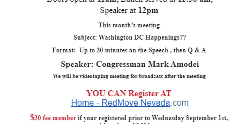 Congressman Marc Amodei speaks at Sierra Republican Club, 9/2/21 11:00 AM