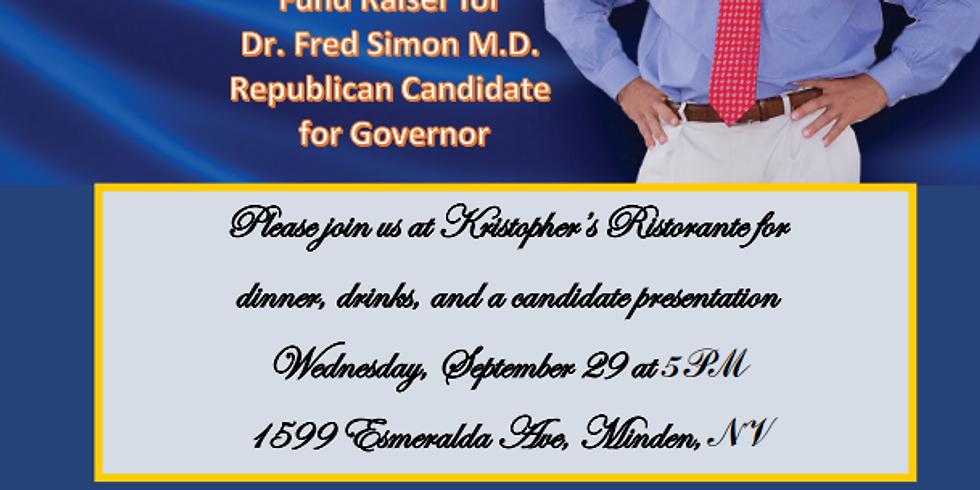 Meet and Greet Fund Raiser for Dr. Fred Simon