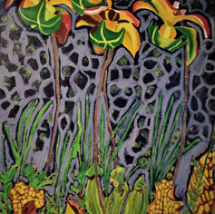 60 Pitcher Plant 6 field painting Index.