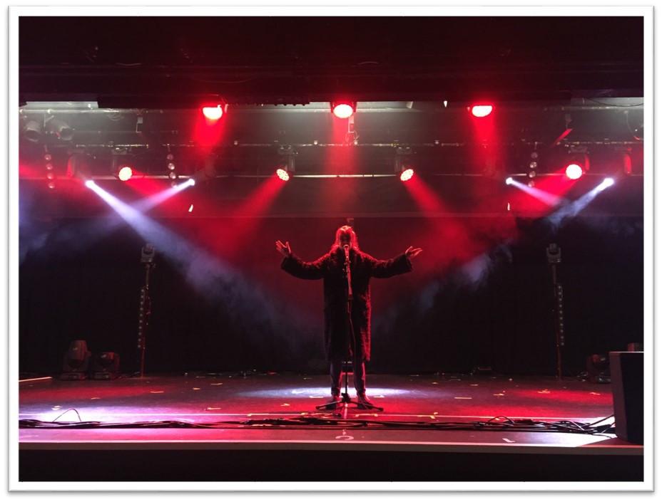 On stage at Butlins in Bognor