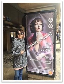The Dark Knight poster at the Edinburgh Festival Fringe