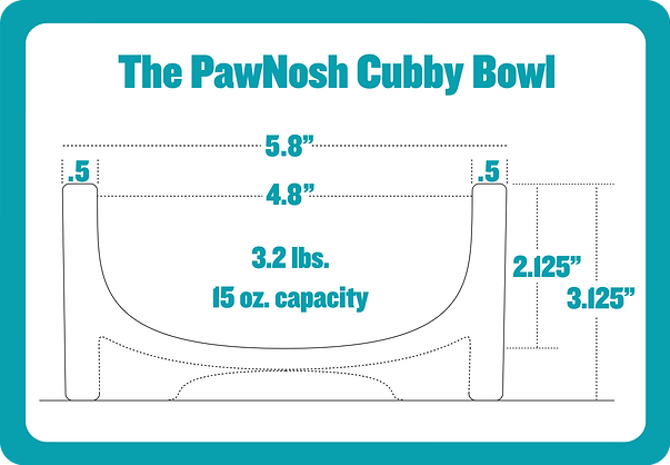 PawNosh Cubby Bowl specs