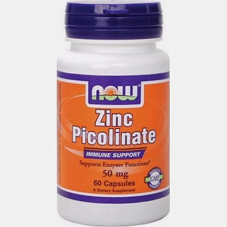 NOW Zinc Picolinate 50mg (60капс)