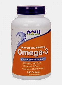 NOW Omega-3 1000mg (200капс)
