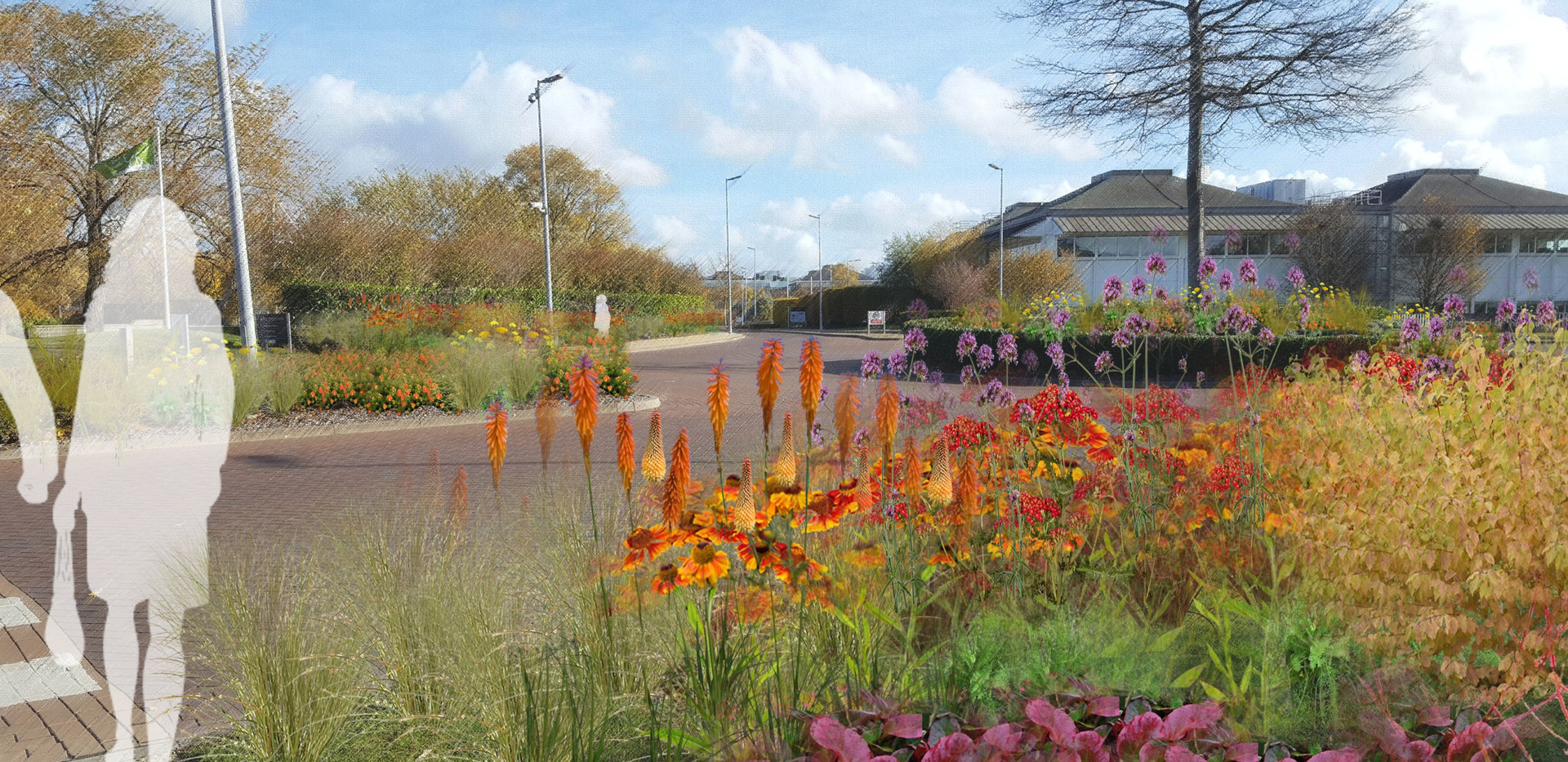 Stockley Park - Roundabout planting col.
