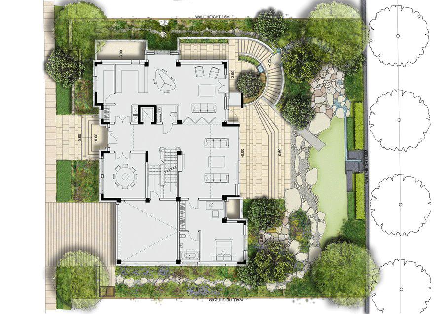 Example villa garden plan