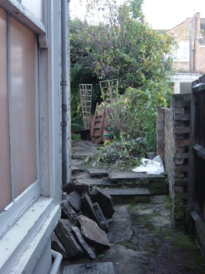 Existing garden before redesign
