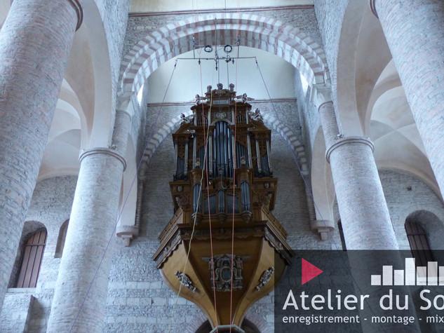 l'orgue de Tournus, enregistrement pour