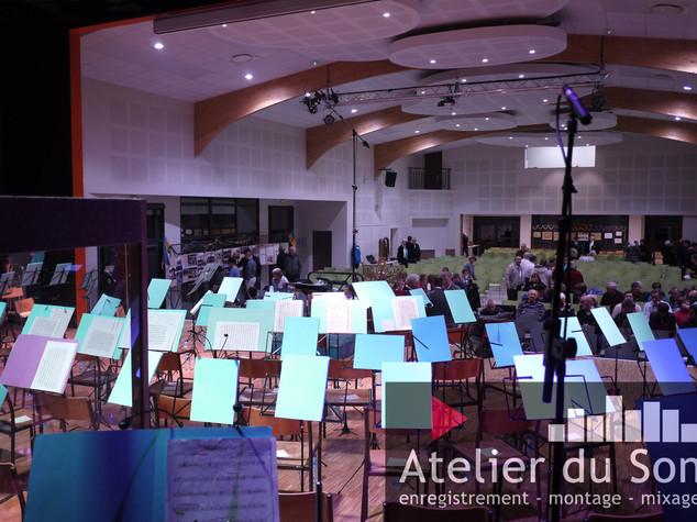 Harmonie d'Ahuy, enregistrement du conce