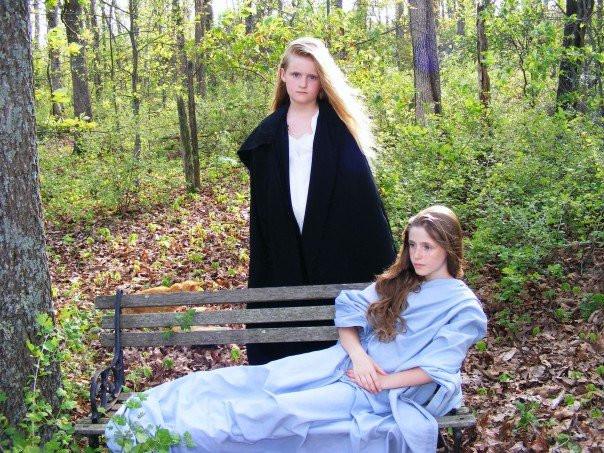 sisters, DIY Sheet Dress