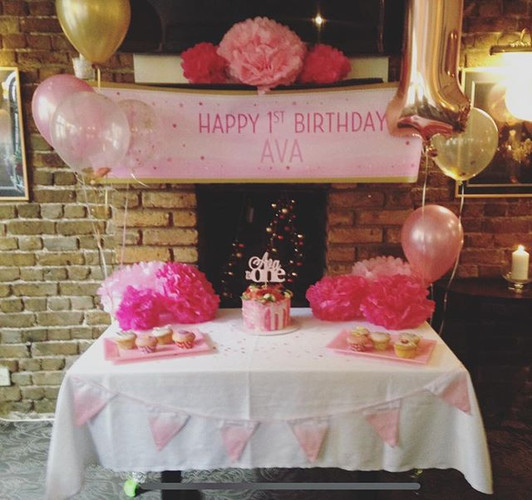 Beautiful 1st birthday set up for a love