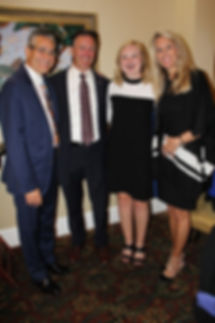 Michael and Debbie with Rep. Amber Mariano and Commissioner Jack Mariano