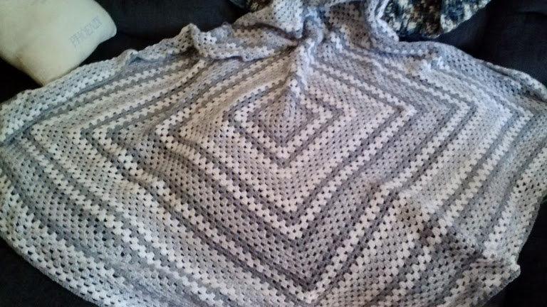 Classic Granny Square Crochet Blanket