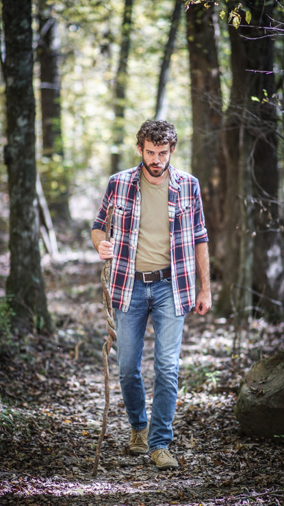 Male Hiker in the forest
