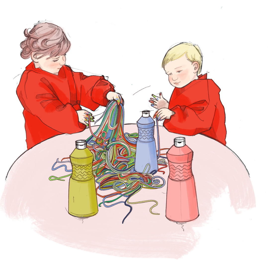 Spaghetti Play Illustration